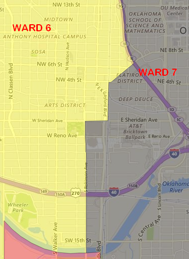 Downtown OKC Wards