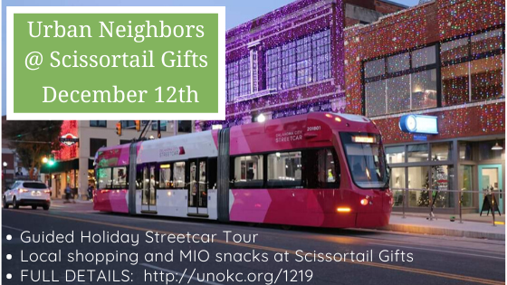 December Social at Scissortail Gifts — Local Holiday Shopping and Guided Streetcar Tour